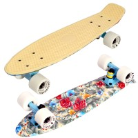 "Пенни борд Fish Skateboards 22"" Flowers"